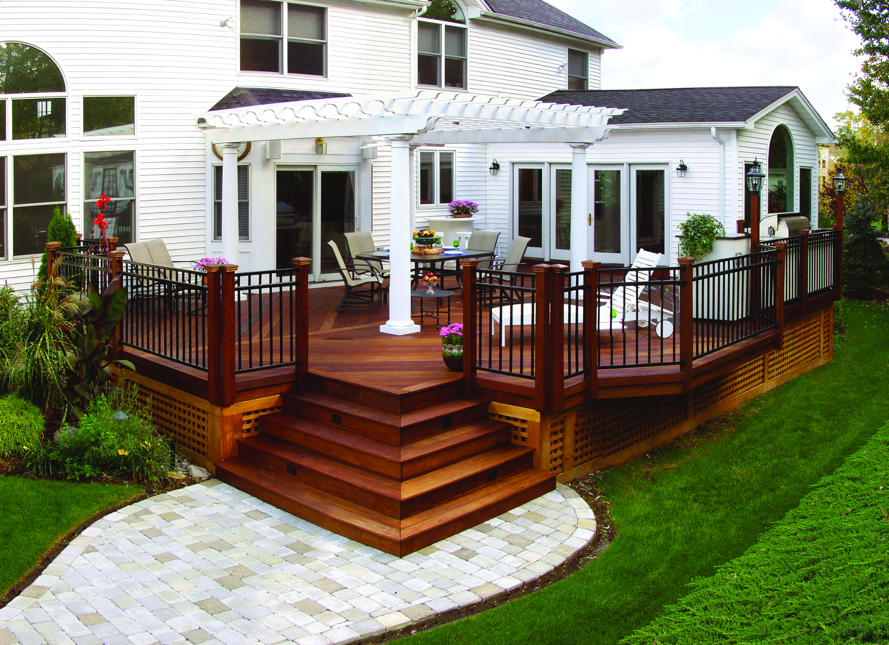 front deck ideas four of the best wood choices for deck building