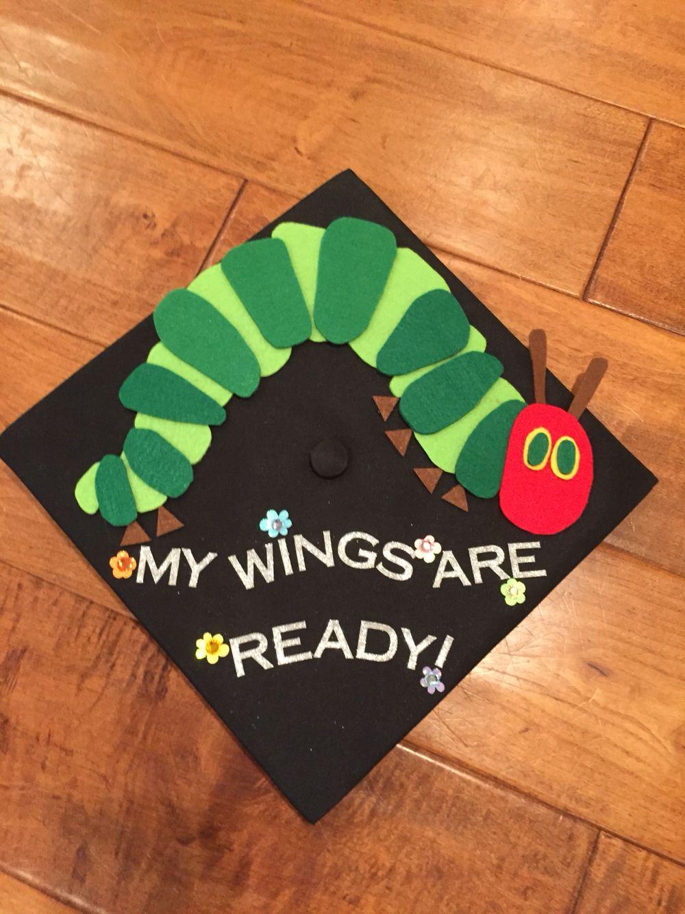 Hungry Little Caterpillar Grad Cap Teacher Graduation Cap Graduation Cap Decoration High School Graduation Cap Decoration