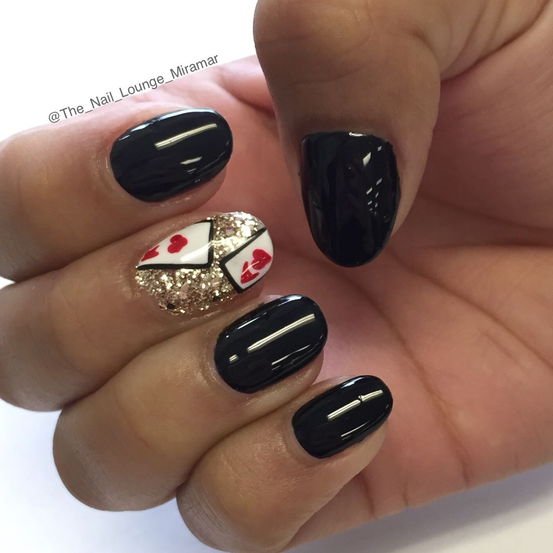 Las Vegas Inspired Cards Nail Art Design