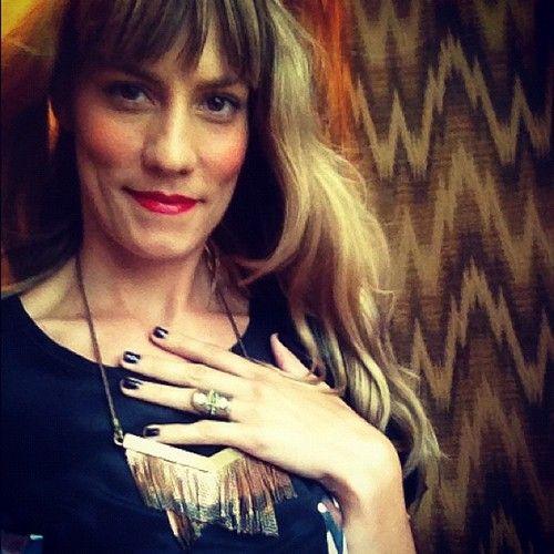 The lovely Gretchen Jones pre-NYFW 2012