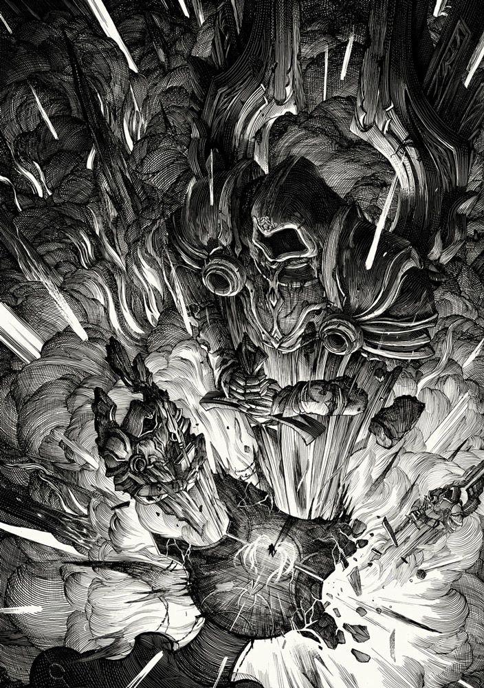 Imperius' anguish by Nicolas Delort