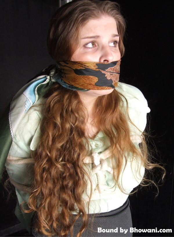 Gag scarf Transformed into