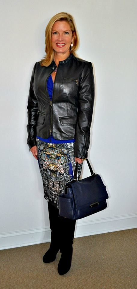 How To Wear Leather Over 40 Runway To Reality Fashion