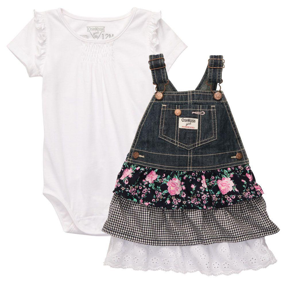 f2c49d3da Overol Niña Jeans Tableado OshKosh | costura y patrones | Ropa para ...