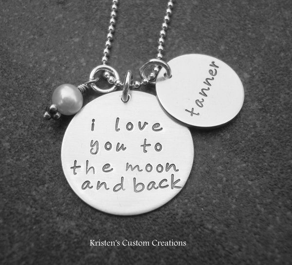 Love you to the moon and back  http://www.etsy.com/listing/62408762/i-love-you-to-the-moon-and-back-hand