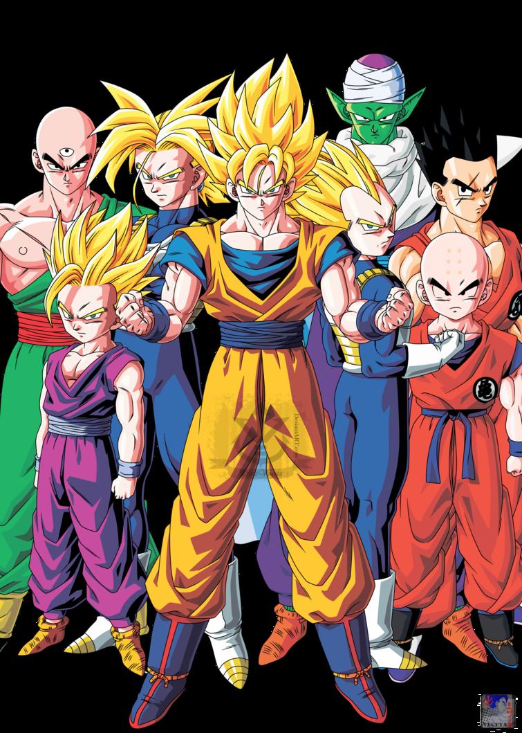 Guerreros Z Personajes De Dragon Ball Personajes De Goku Dragones