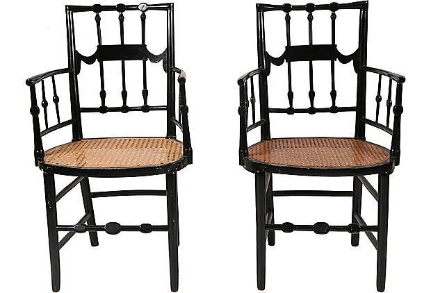 19th-C. Victorian Armchairs