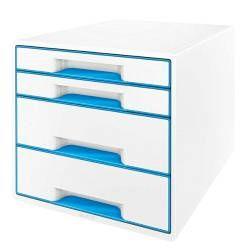 Prezzi e Sconti: #Leitz cassettiera 4 cassetti bianco/azzurro  ad Euro 64.84 in #Leitz #Accessori per ufficio