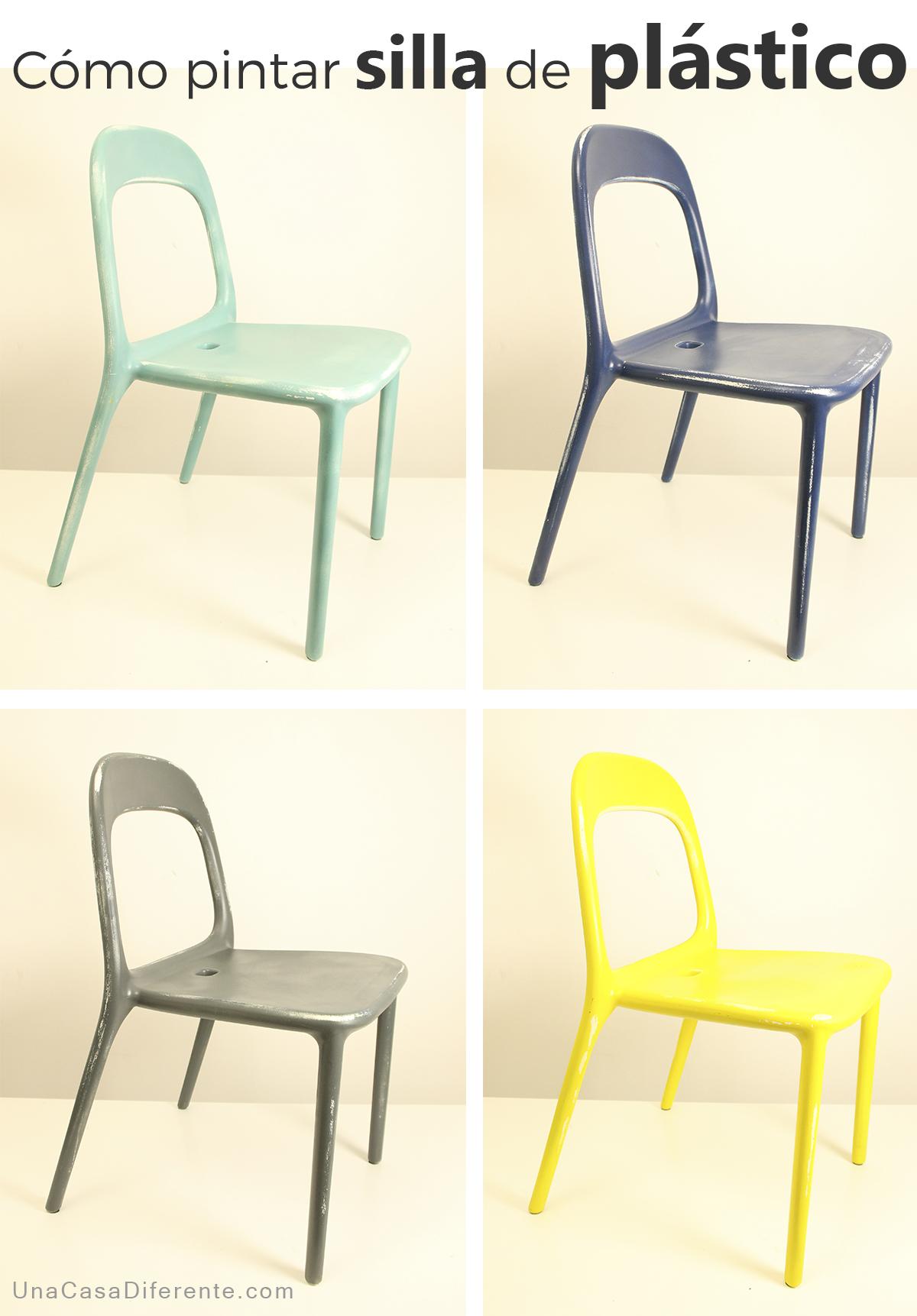 o pintar sillas de plastico ikea hacks