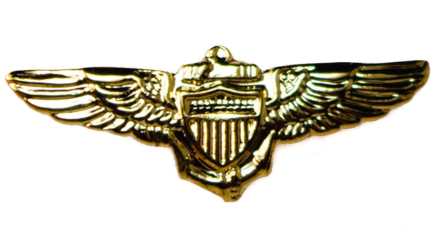 Pilot Aviator Wings Gold Tone Small Hat Or Lapel Pin ** A Special Jewelry  Just