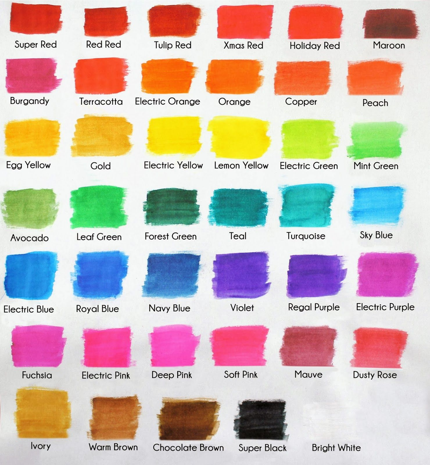 Americolor color swatch chart frosting colors food