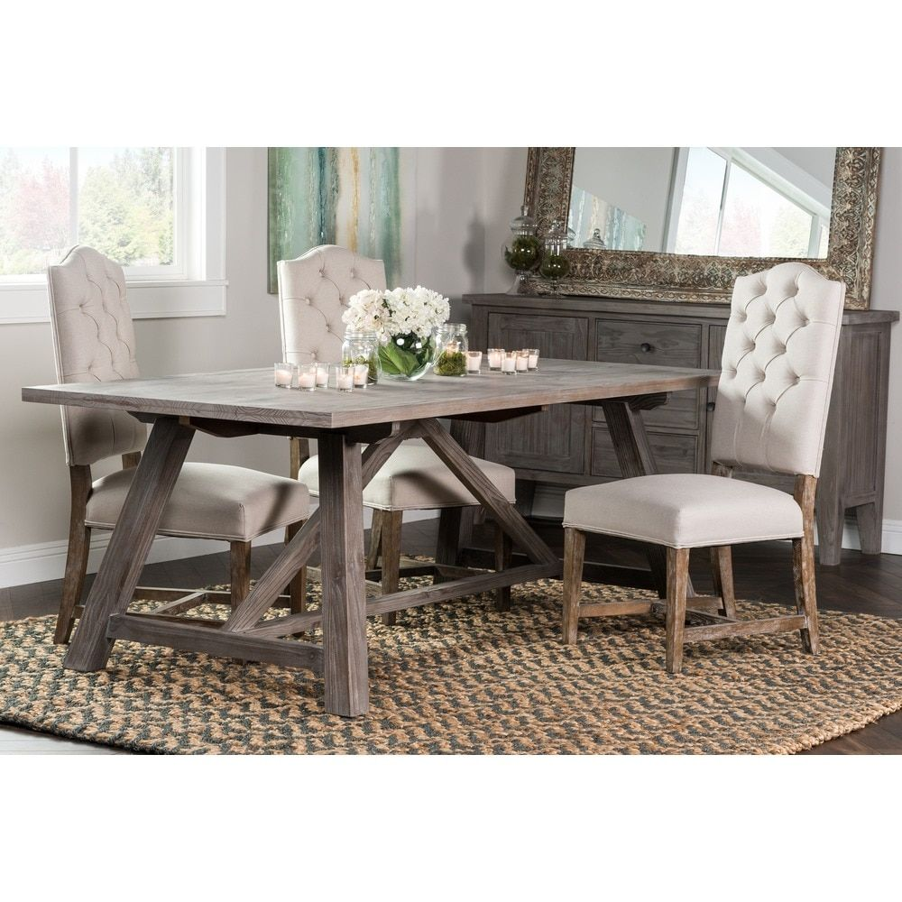 Aubrey Rustic Grey 86 inch Dining Table by