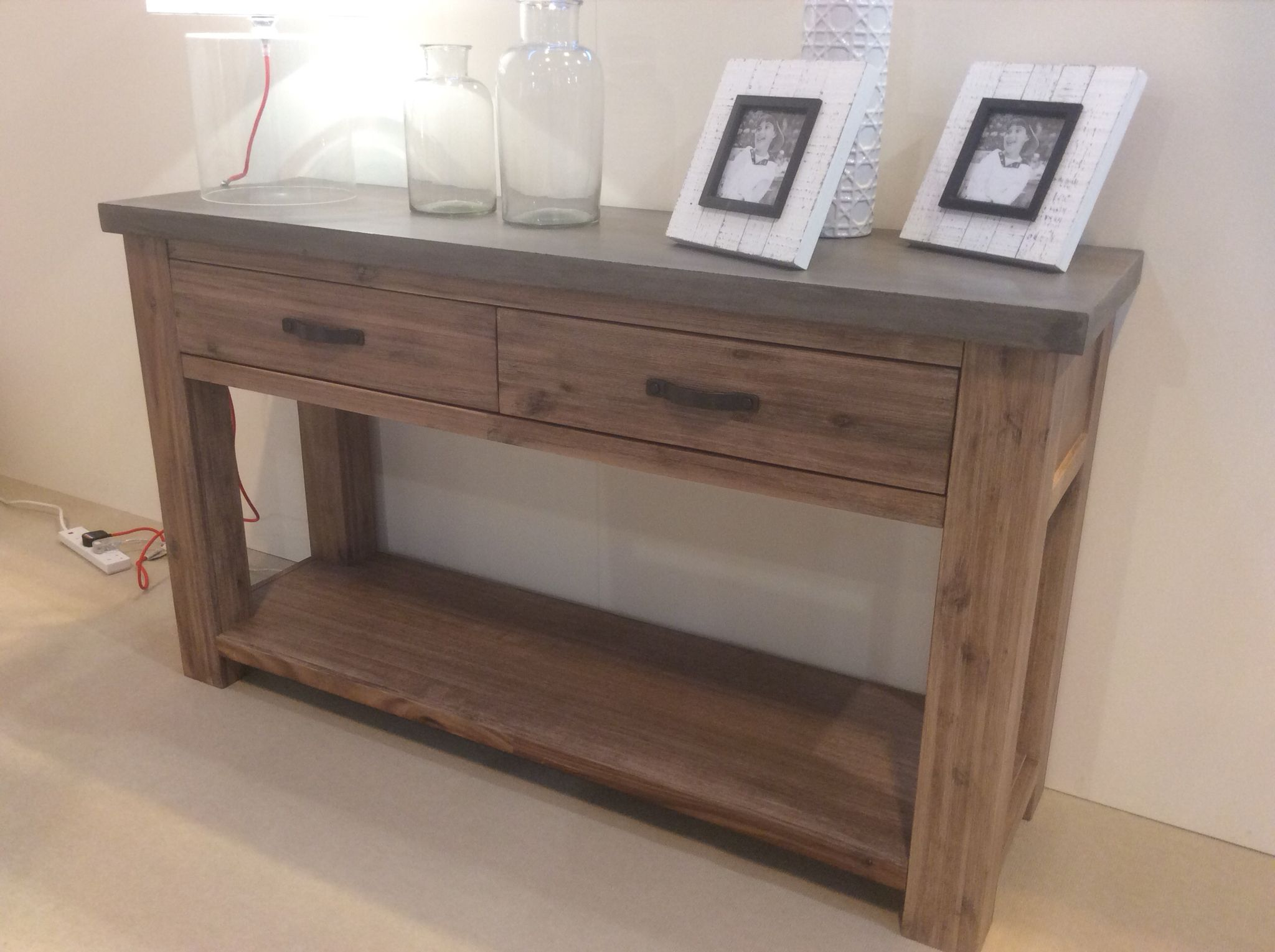 Sofa Tables Pinterest Best Rated Cover For Dogs Console Table Rockhampton Concrete Collection