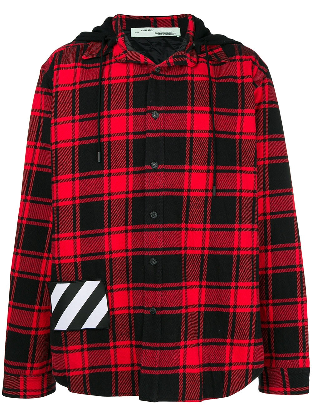 Flannel jackets with hood  HOODED CHECKED FLANNEL JACKET by OffWhite  I wish list