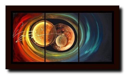 Cuadros tripticos abstractos modernos buscar con google cuadros pintados abstracto - Bimago cuadros modernos ...