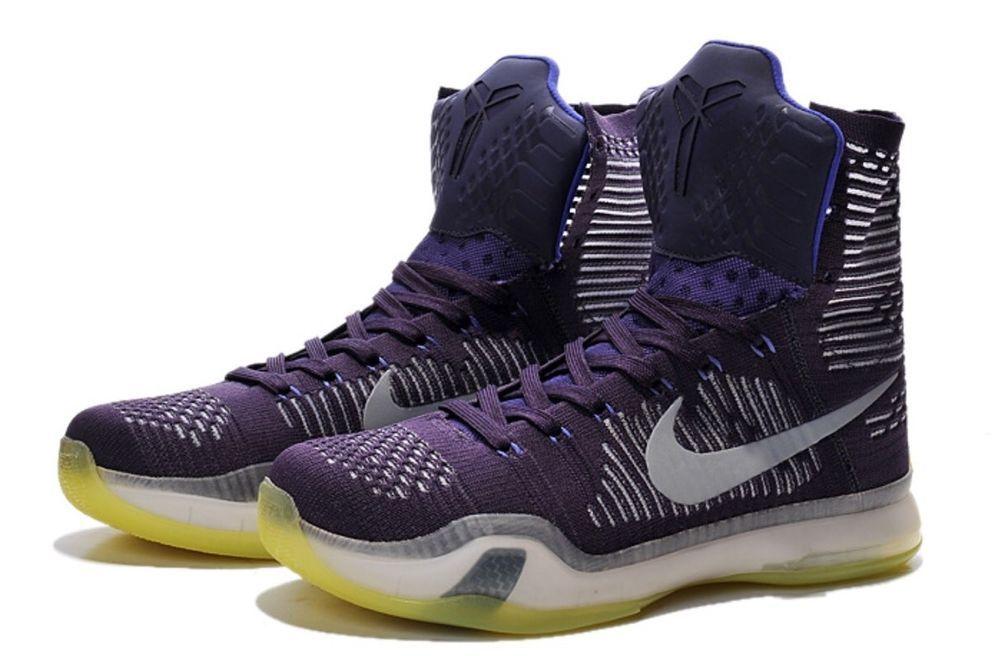 021832cec298 Nike Kobe X Elite Grand Purple Silver Persian Violet Mens 8 718763 505  Nike …