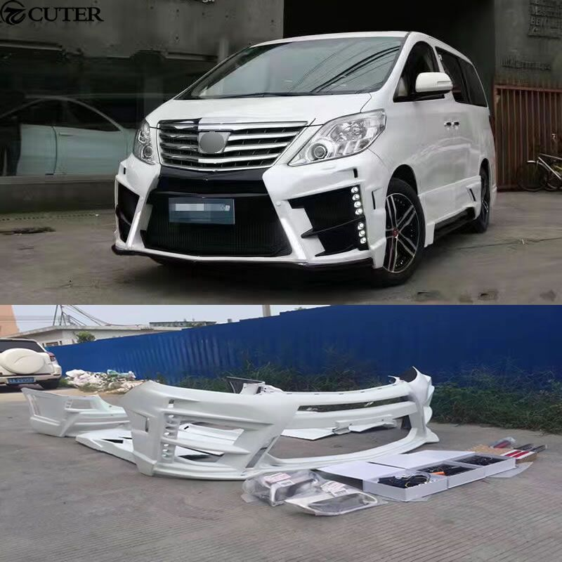 Frp Unpainted Car Body Kit Auto Front Rear Bumper Side Skirts For