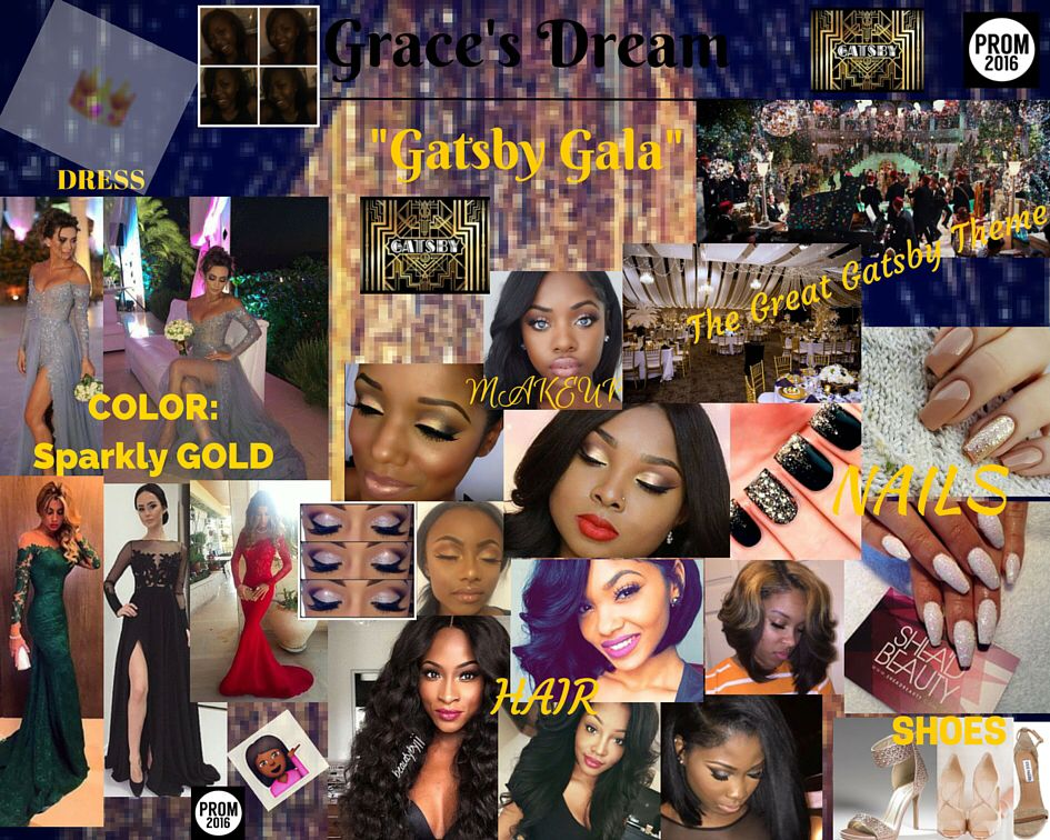 Prom Vision Board #GreatGatsby
