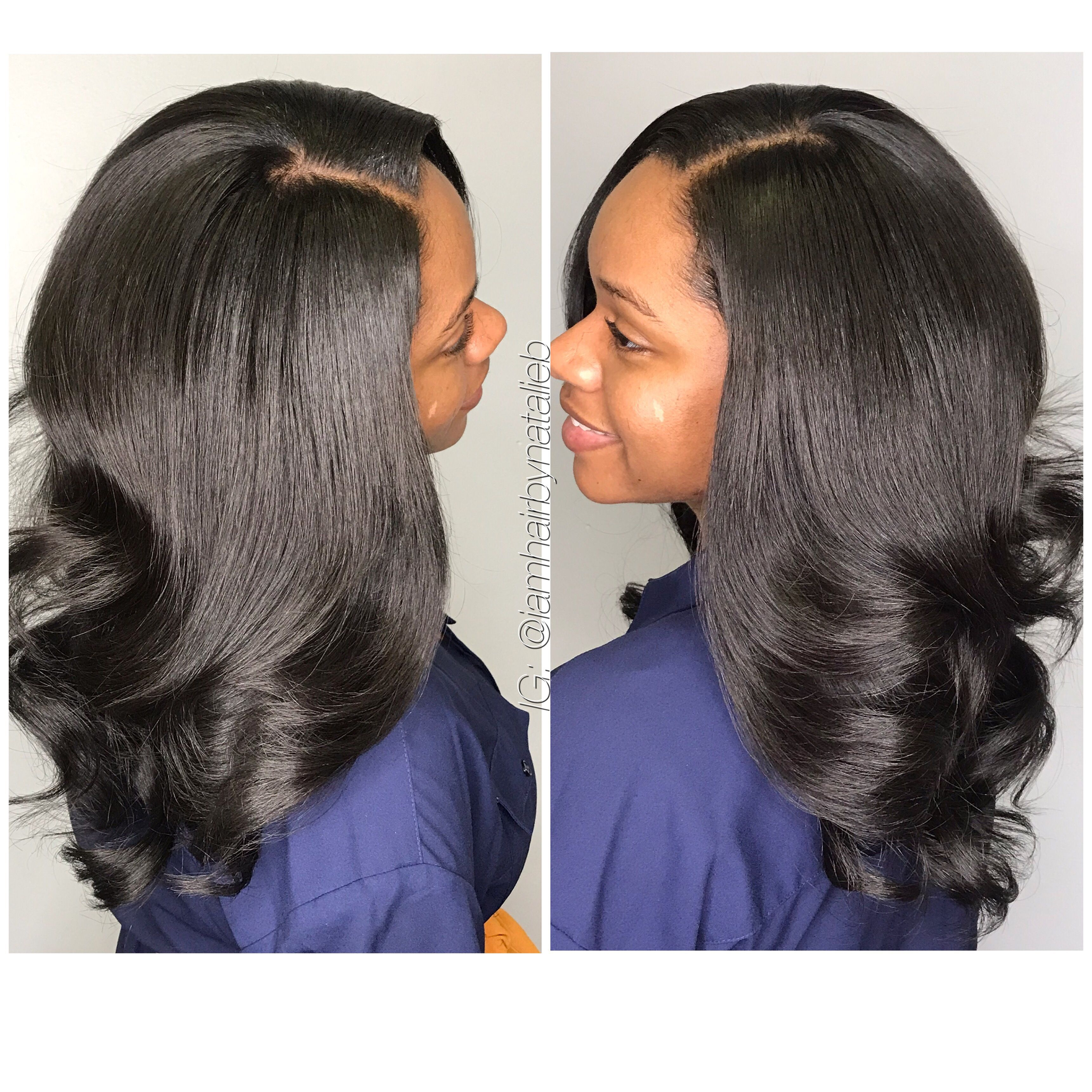 I Create Sew In Hair Weave Styles That Looks Just Like Your Own Real Hair Natalie B Traditional Sew In By Nata Weave Hairstyles Hairstyle Silk Press