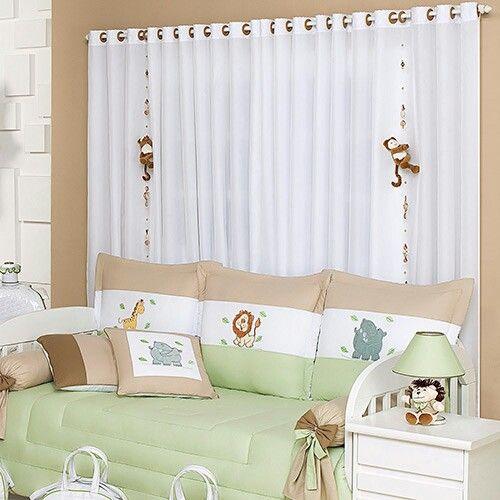Cortina Safari para quarto de bebe menino  Lojas Americanas  Quartos de cri