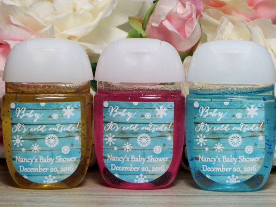 Baby Itu0027s Cold Outside Baby Shower Favor Label, Winter Baby Shower Hand  Sanitizer Label, Winter Wonderland Hand Sanitizer Favor Label