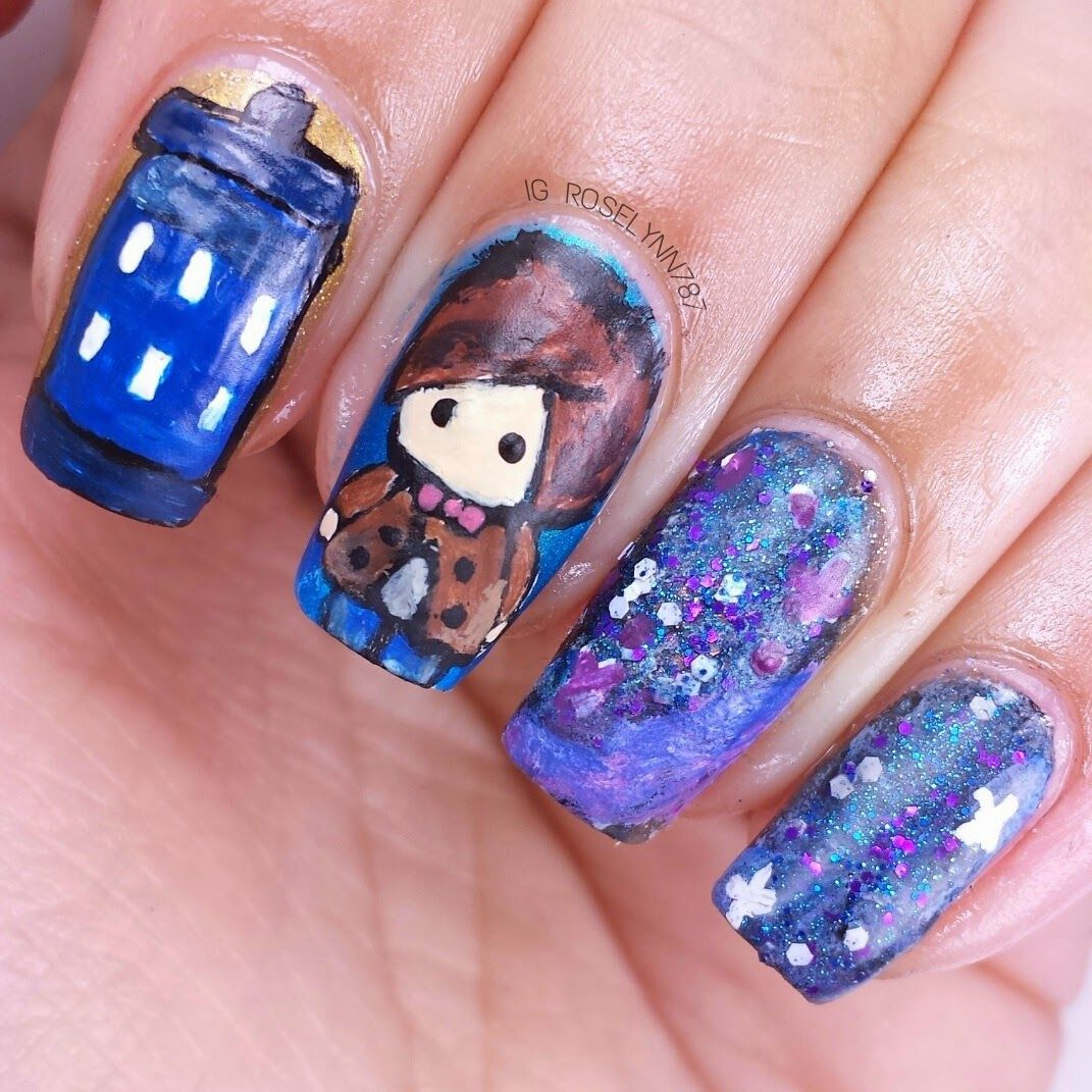 Manicured & Marvelous: Nail Art: Chi-bi Doctor Who