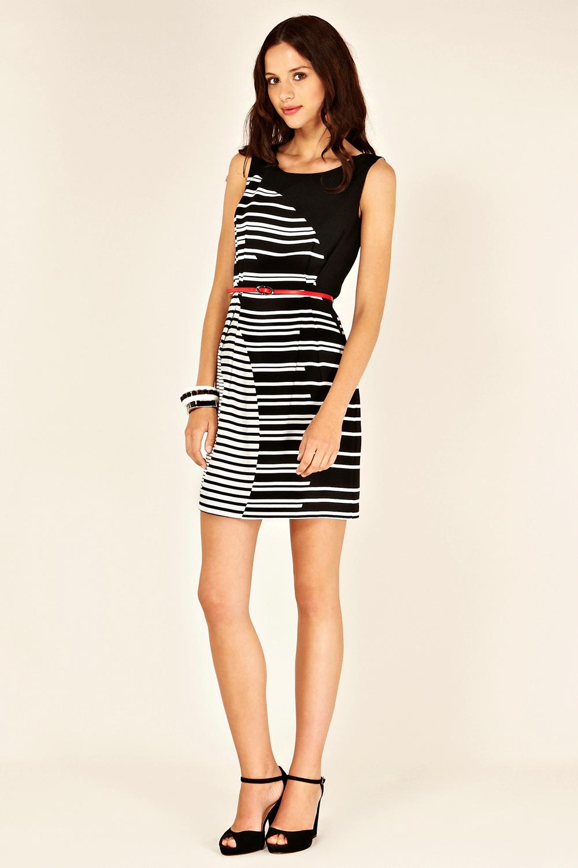 cb3ad837ef9e Oasis All Dresses | Blk 90s Stripe Shift Dress | Womens Fashion Clothing | Oasis  Stores UK
