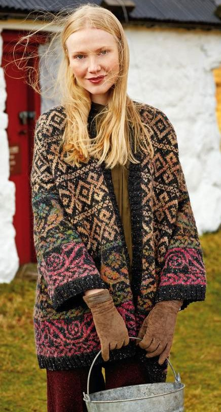 Rowan FairIsle Doves Cardigan kit - by Martin Storey | KNITTING ...