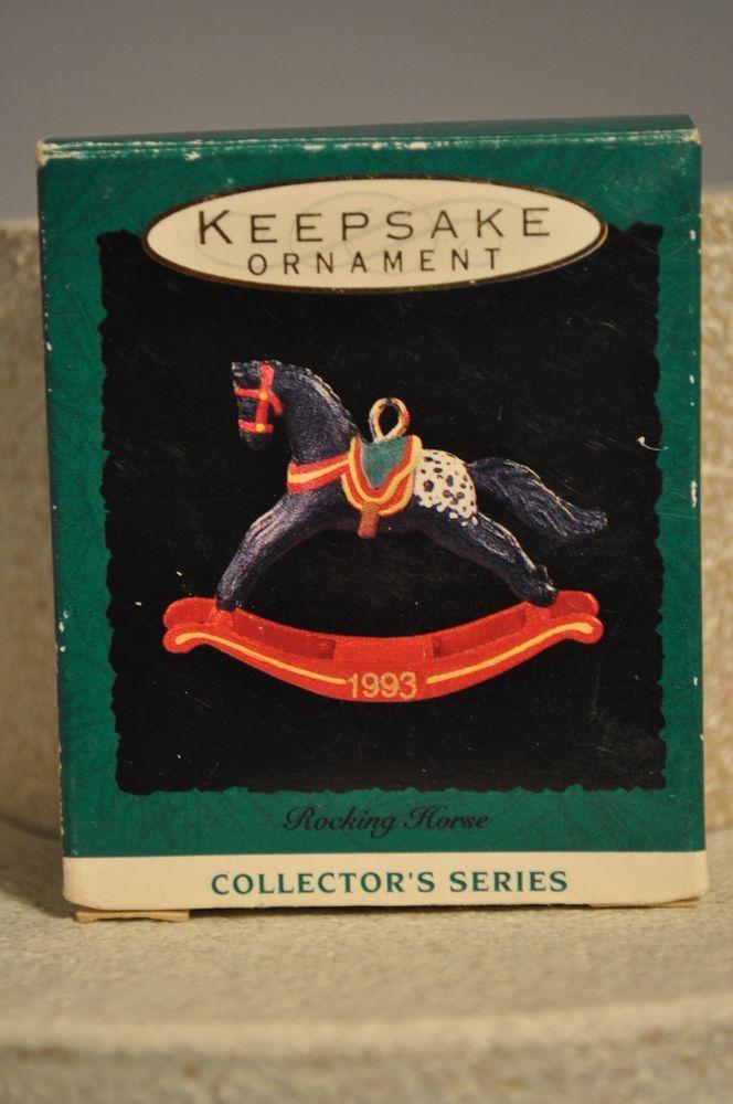 Hallmark - Rocking Horse - 6th in Series - Miniature Keepsake Ornament #Hallmark