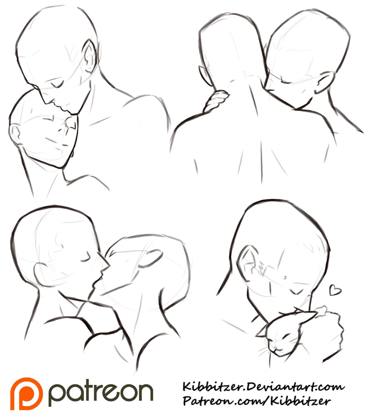 """kibbi: Kisses reference sheet 2 by *kibbitzer Haa! you appreciated the first reference! I'm glad to know it!So here we are..with another one! HEHEHEAs I said in the other ref """"I used to draw a """"thank you sketch"""" for every single +5$ patron but now it's a little difficult 'cause they are increasing in number..SO I will allow them to see some… sexy stuff/fanservice and special reference sheets like this one >: DI hope they don't mind! you can find the complete series (9+9 kiss..."""