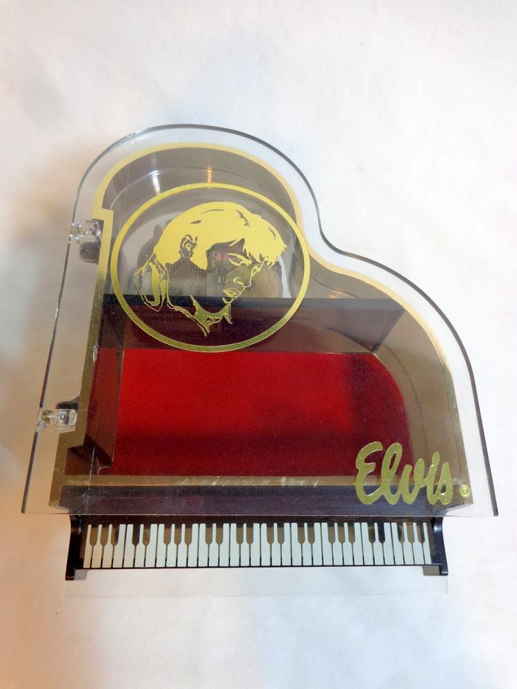 Elvis Presley Musical Piano Music Box Jewelry Box Plays Love Me