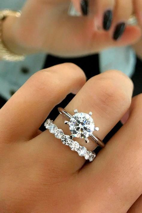 Emerald engagement ring rose gold Unique diamond Cluster ring Vintage wedding Promise Mini Bridal set Jewelry Anniversary Gift for women – Fine Jewelry Ideas