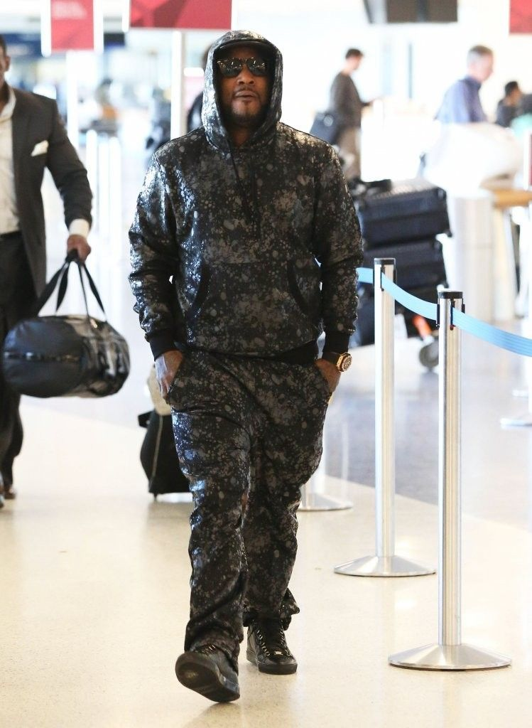 309fcf0220c6 Jeezy Wearing Balenciaga Arena Creased Leather High Top Sneakers On Feet