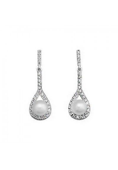 7fcb42711e75 Pendientes para Novia   Pendientes de Boda   Joyería Nupcial  Pendientes  novia perlas circonitas plata de ley  boda
