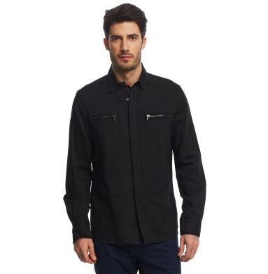 Clearance New Styles Kenneth Cole Long-Sleeve Shirt Jacket Cheap Pictures Big Sale For Sale Cheap Best Store To Get tCgFhuk46i