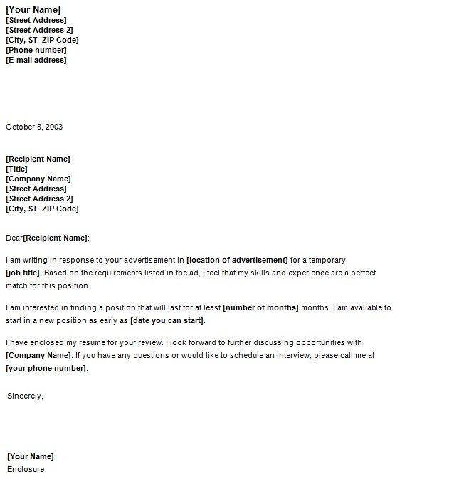 Job Cover Letter | Template Sample | Job cover letter ...