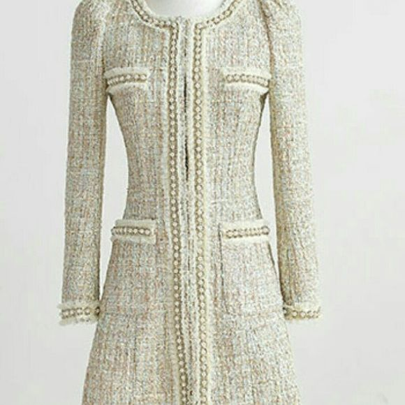Coat Gorges Ivory Coat, with detailed design and lovely beads. A beauty ! Please do not purchase listing. Order your size and I will create listing for you. Happy Posing ! Jackets & Coats Pea Coats