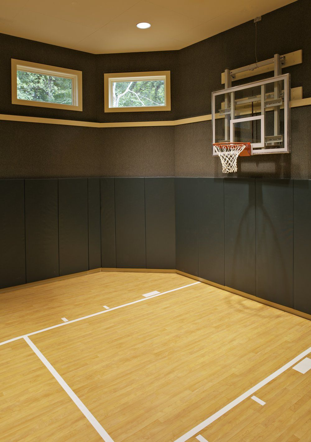Custom Indoor Sports Court Home Addition By Southampton Builders In Naperville Il Naperville Home Basketball Court Indoor Sports Court Indoor Basketball Court