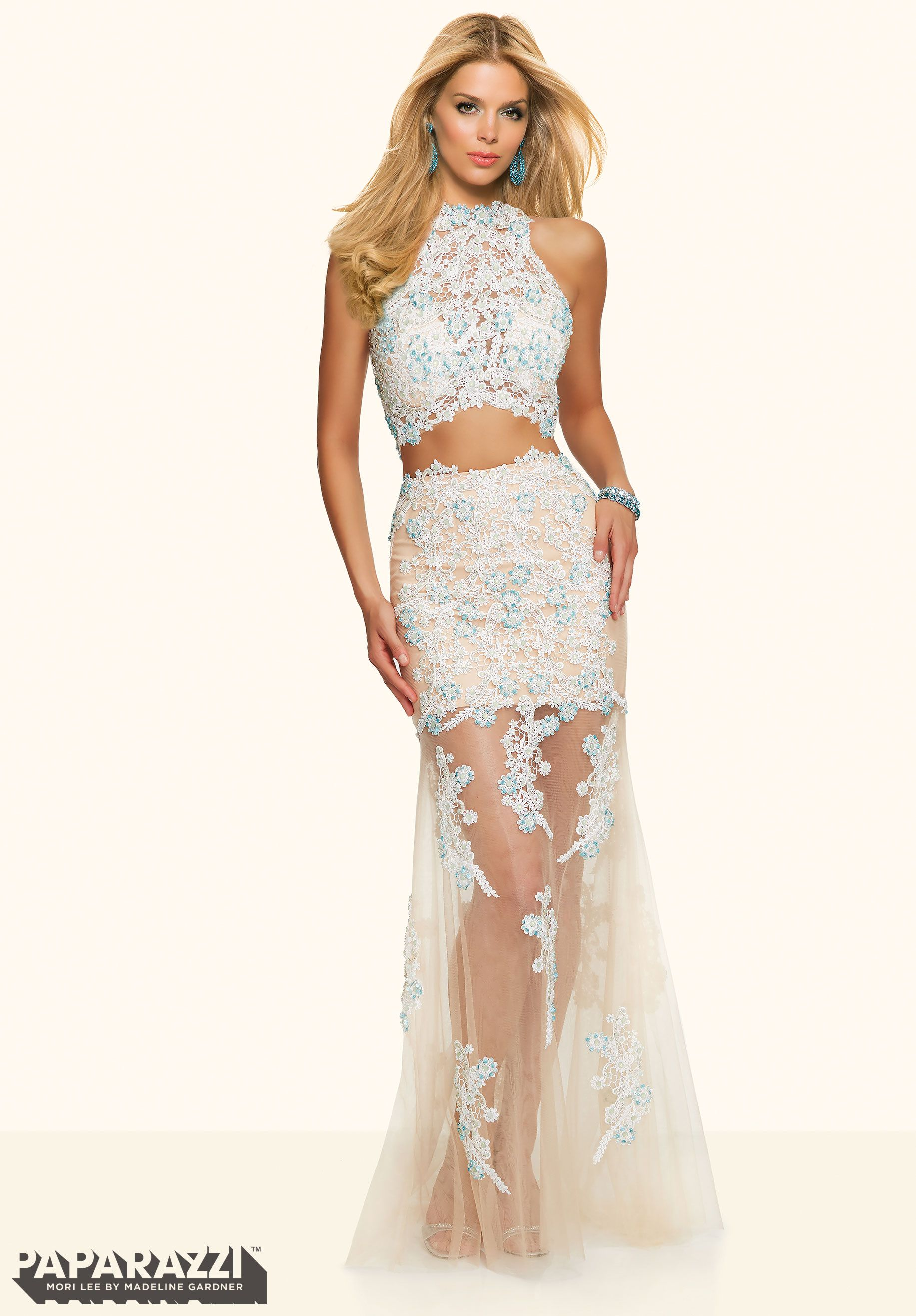 piece lace and beading on net mori lee prom dress prom and