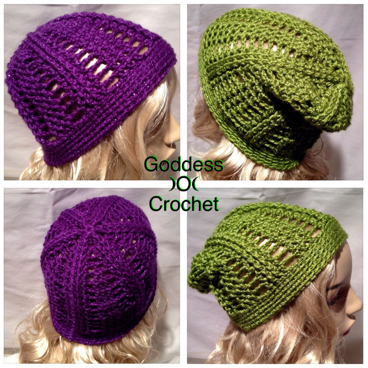 Quick to work up beanie in regular and extra slouchy. Free crochet ...