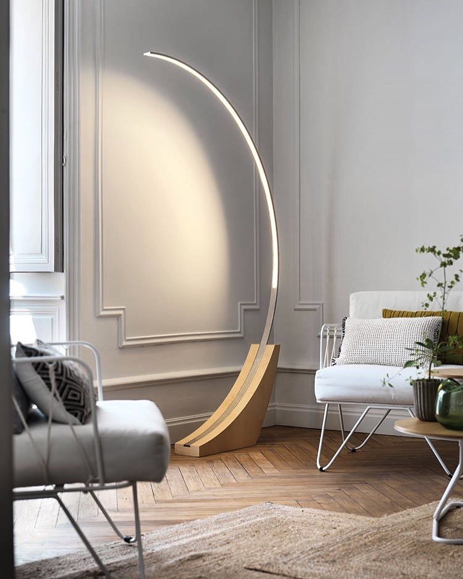 Moon Floor Lamp By Brossier Saderne P Roduct Product Design Productdesign Furniture Lamp Lighting Design Interior Interior Lighting Lamps Living Room