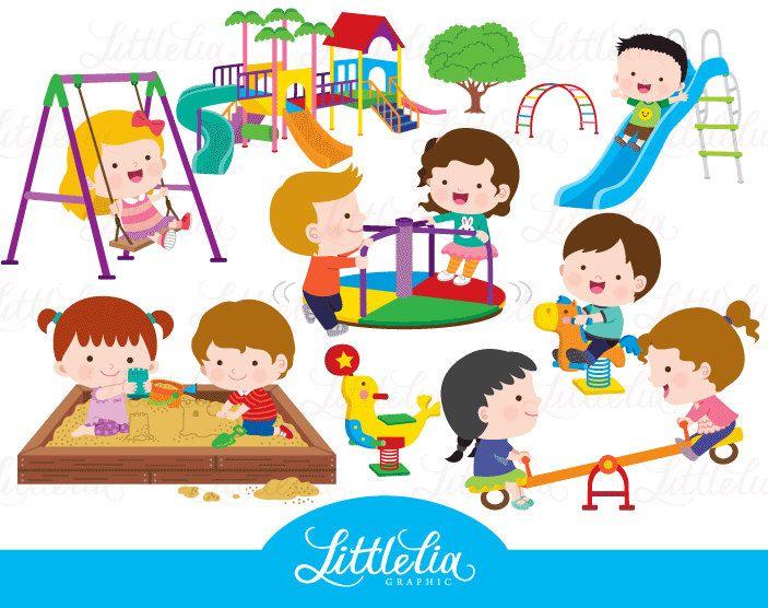 kids playground - playground clipart - 17005 by ...