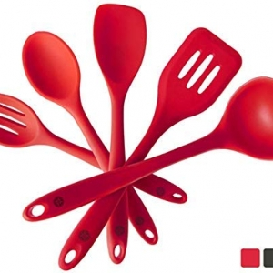 Kitchen High Temperature Serving Spoon Cooking Spoons Silicone Soup Mixing HO3