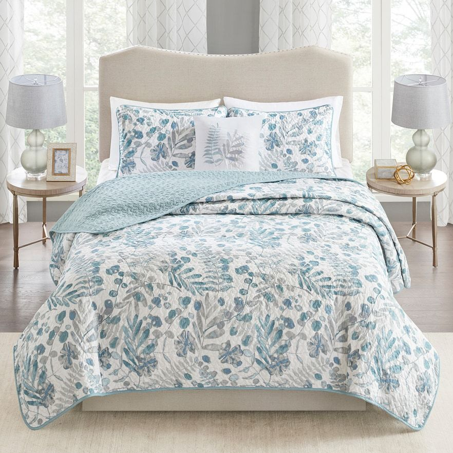 Madison Park Lyla Quilt Set Bedroom Comforter Sets Blue Master Bedroom Modern Bedroom Design Madison park duvet cover set