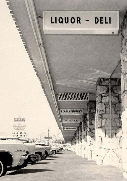 San Fernando Strip Mall Truman Ave 1964 It Seemed Like Such A