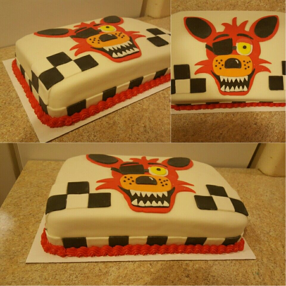Five Nights At Freddies Foxy Themed Cake Fnaf Cakes