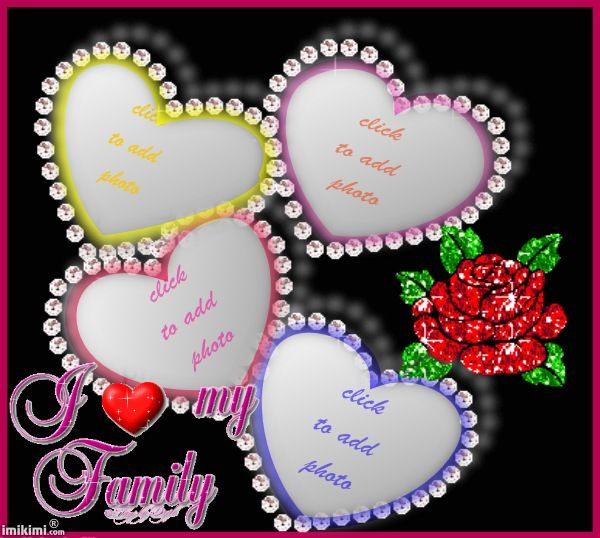 I Love My Family Frame Click To Add Photos Of Your Family -3737