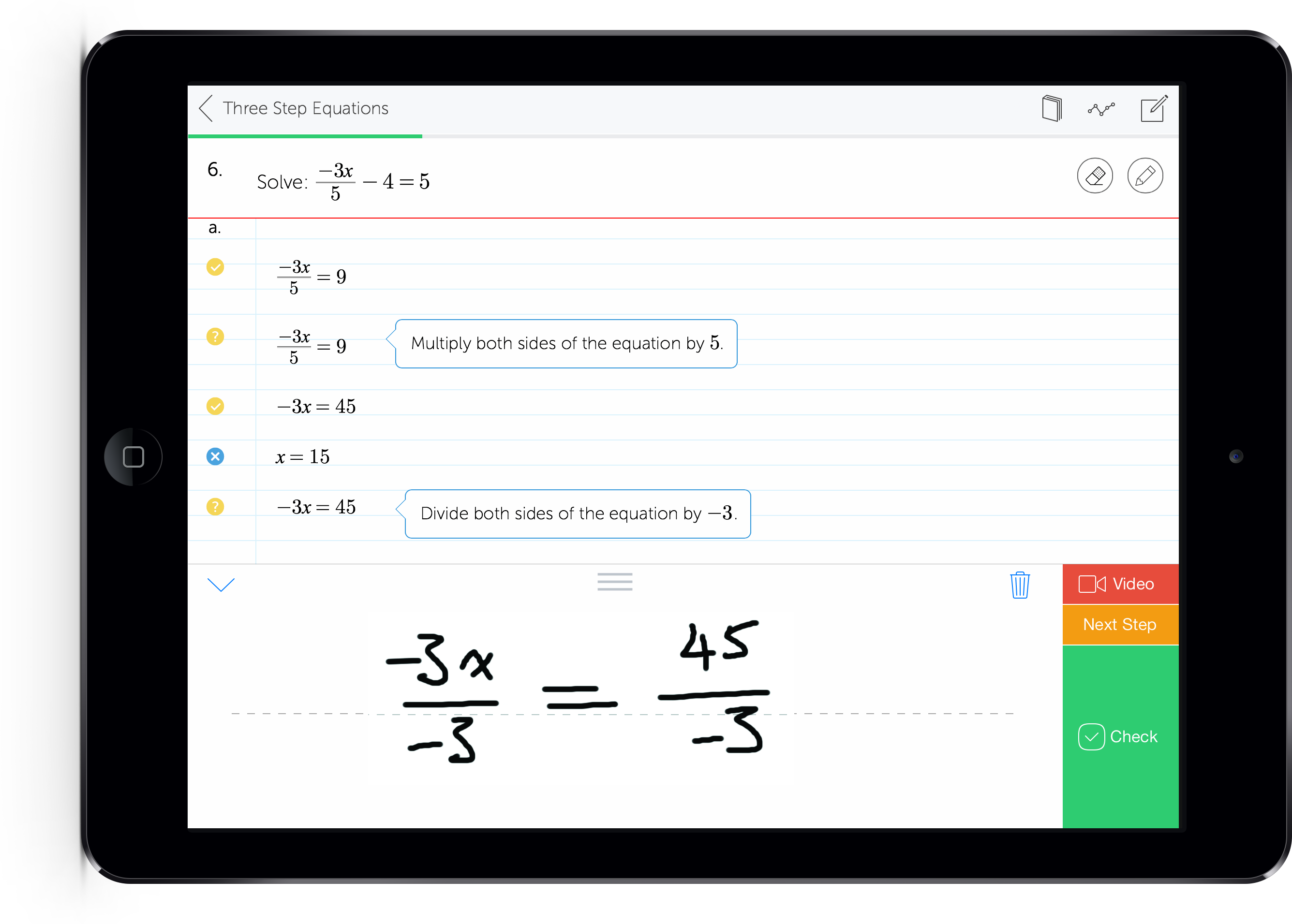 Mathspace world's only app that allows students to write