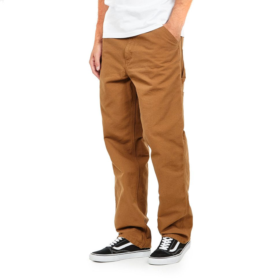 6ed8e0a373 Buy Carhartt WIP - Single Knee Pant Dearborn Canvas, 12 oz (Hamilton Brown  Rinsed) online on HHV - Discover Men's Apparel from selected Top Brands  available ...