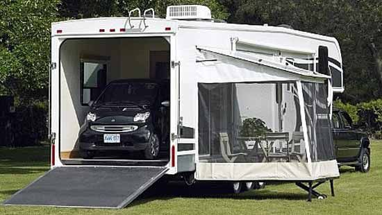 Fifth 5th Wheel Toy Hauler I Like The Drop Down Screen In Porch